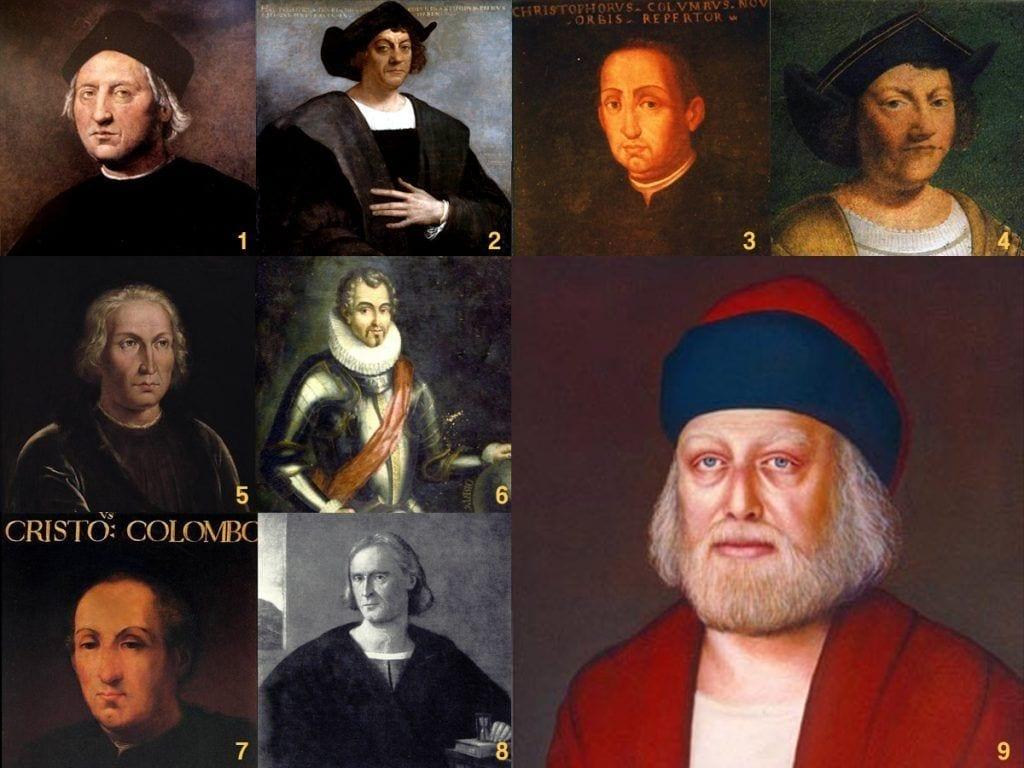 Cristoforo Colombo. Panoplia di ritratti.