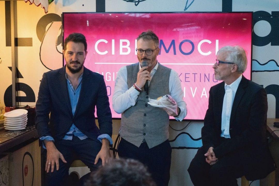 Un momento della Conferenza Stampa di presentazione di Cibiamoci Festival 2018 al Mercato Centrale di Firenze