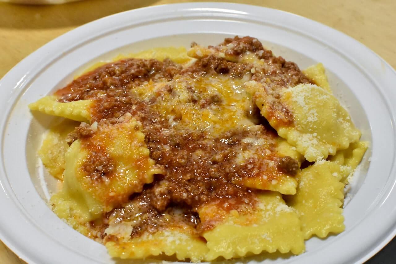 Tortelli di patate al sugo alla Festa di Santa Cristina a Papiano (Arezzo)