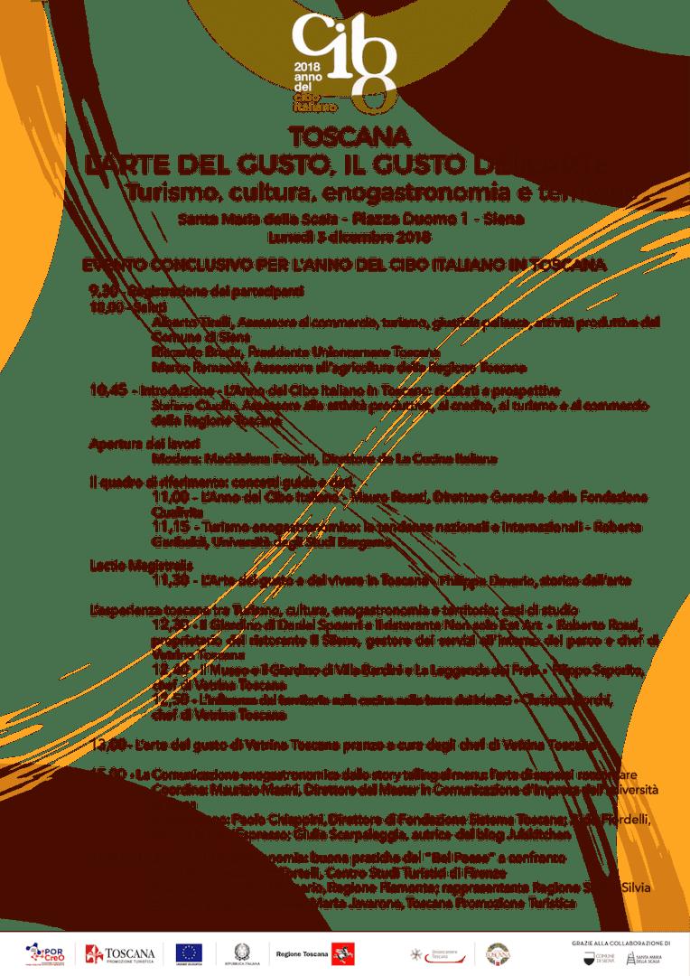 """""""L'arte del gusto e il gusto dell'arte"""": il programma dell'evento il 3 dicembre a Siena"""