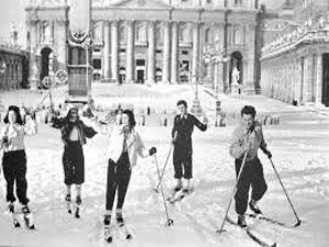 Memorabile nevicata a Roma nel 1956.