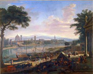 "Vanvitelli (Gaspar Van Wittel), 1694. ""Veduta di Firenze dal Pignone""."