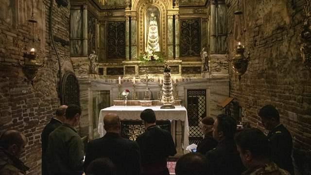 Benedizione della statua della Madonna di Loreto