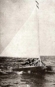 """1938, il """"Catafoil I"""". La prima imbarcazione riconosciuta come aliscafo a vela."""
