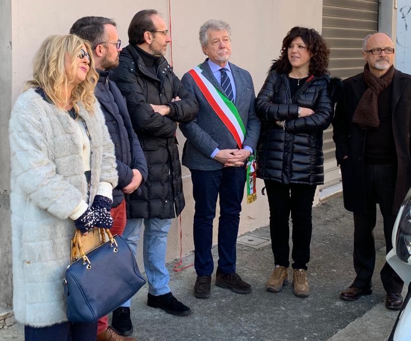 Intitolazione via Oriana Fallaci ad Arezzo, alla presenza del Sindaco Alessandro Ghinelli, dei Senatori Nisini e Nencini, dei consiglieri Andreani e Casi
