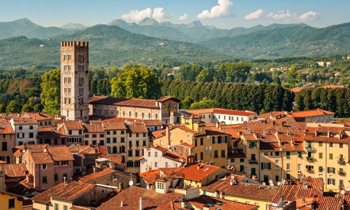 Lucca, panoramica della città
