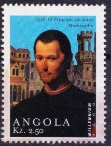 L'universalità del pensiero degli uomini del Rinascimento italiano travalica i confini nazionali. Niccolò Machiavelli è celebrato pure sui francobolli di diversi paesi come Monaco o addirittura l'Angola (nell'immagine).