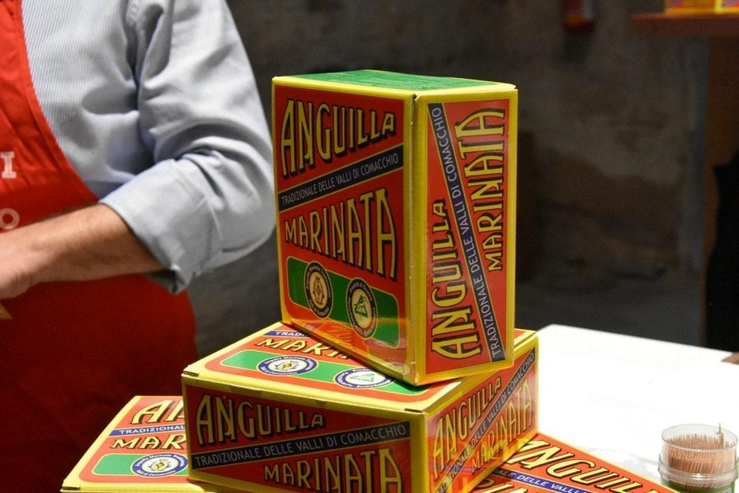 L'anguilla marinata, specialità della tradizione oggi riportata in produzione da I Marinati di Comacchio