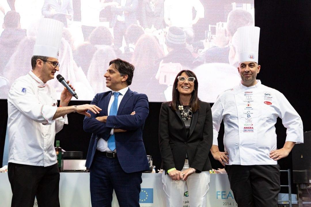 Mare Nostrum: da sinistra, il presidente nazionale FIC, Rocco Pozzulo; il sindaco di Catania, On. Salvo Pogliese; l'assessore alla Cultura, Barbara Mirabella; il presidente FIC Promotion Seby Sorbello