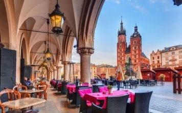 Rynek Główny, la piazza principale della città sulla quale sorge la Basilica di Santa Maria