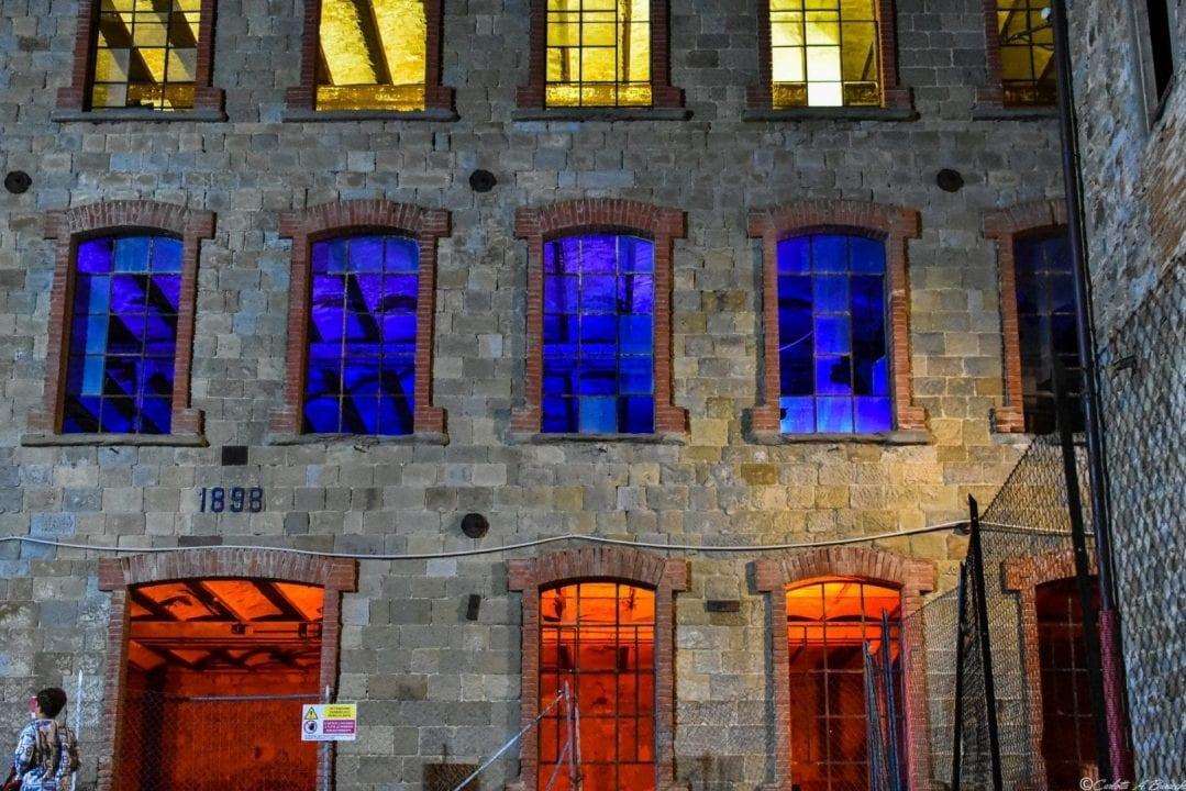 I locali dell'ex Lanificio di Stia in occasione della XXIII Biennale di Arte Fabbrile a Stia