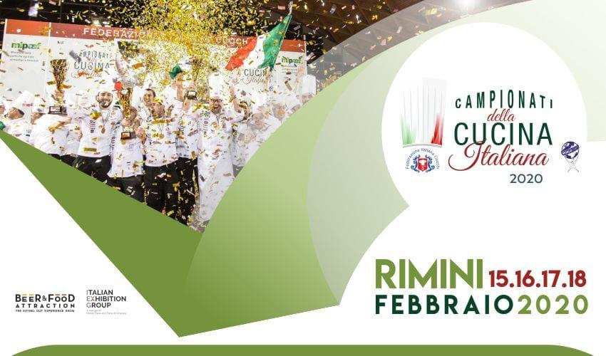 Campionati della Cucina Italiana 2020, la locandina ufficiale