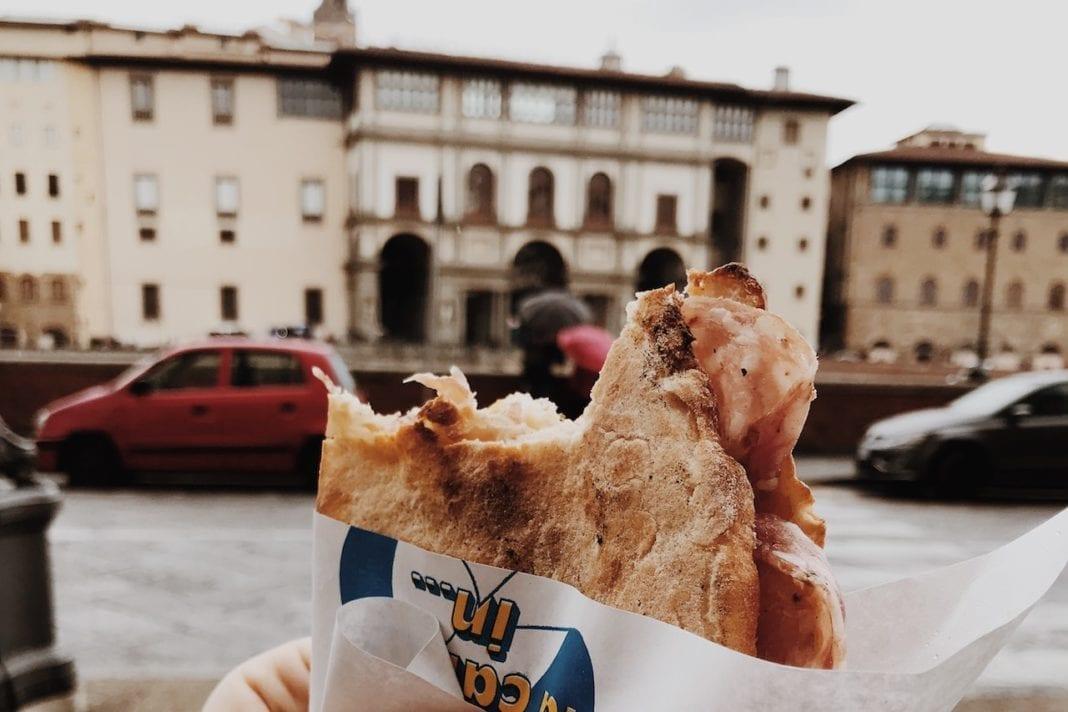 Focaccia con salumi toscani, Firenze