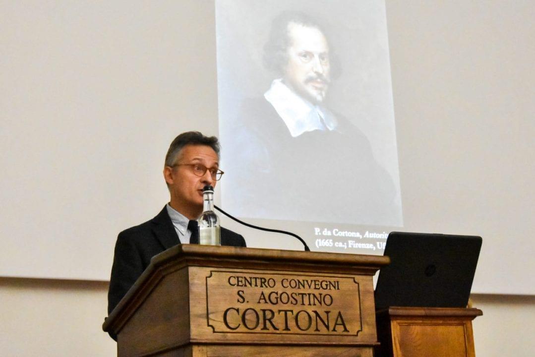 L'intervento del Prof. Roberto durante il l'incontro su Pietro Berrettini