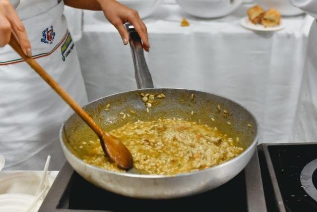 Food&Wine in Progress 2019, il risotto alle femminelle di Orbetello, Cooking Show URCT