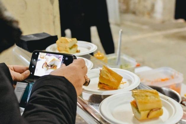 Food&Wine in Progress 2019, il panino al Lampredotto di mare del Ristorante Borgo Allegro di Vinci, Cooking Show URCT