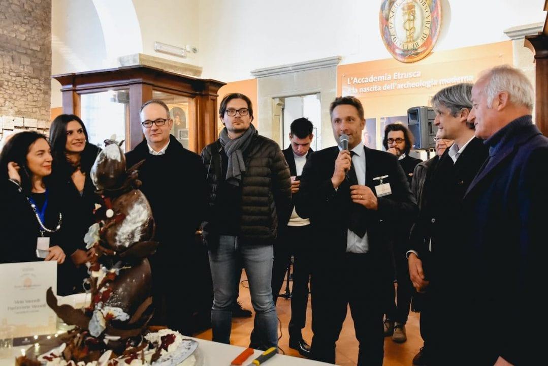 Colazione al Museo 2020, Vittorio Camorri, presidente di Terretrusche assieme agli Assessori Paolo Rossi, Silvia Spensierati, al Sindaco Luciano Meoni ed al Vicesindaco Francesco Attesti