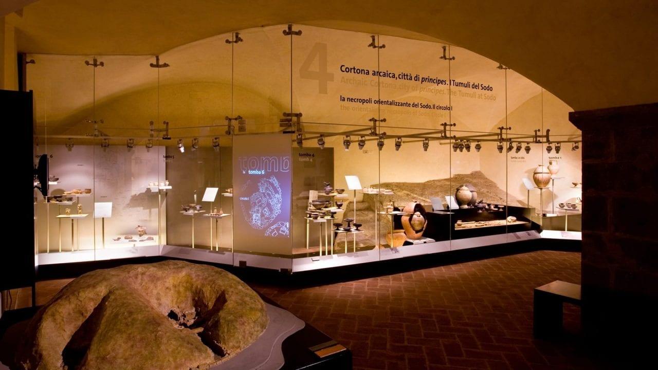 MAEC Cortona, una delle sale che ripercorrono la storia del territorio