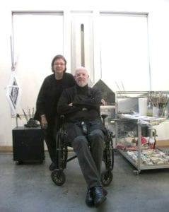 Rosella Nesi con l'artista Chuck Close